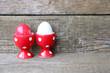 "Eier ""rot & weiß"""