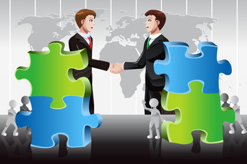 Business merger concept