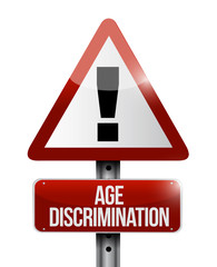 age discrimination road sign illustration