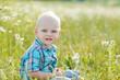 boy in green grass