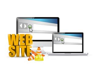 website under construction illustration