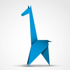 żyrafa origami wektor