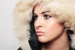 Beautiful woman in fur.winter style.fashion beauty girl