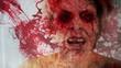 See no Evil Concept Abstract Blood Splatter strobe