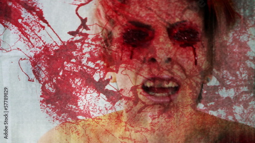 See no Evil Concept Abstract Blood Splatter strobe