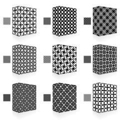 Packaging box. Seamless pattern.