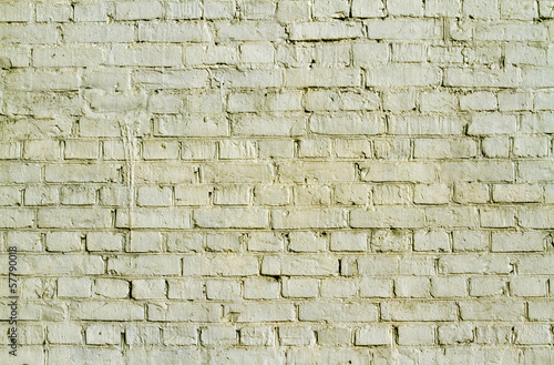 Old yellow brick wall