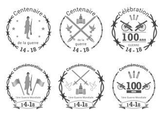 Ecusson barbelé 1ère guerre mondiale - commémoration