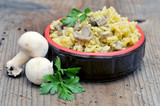 risotto with mushrooms and parsley