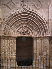 Italy, Sicily, Ragusa Ibla, the St. George Cathedral Portal