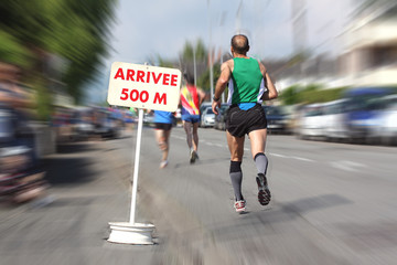 Arrivée marathon