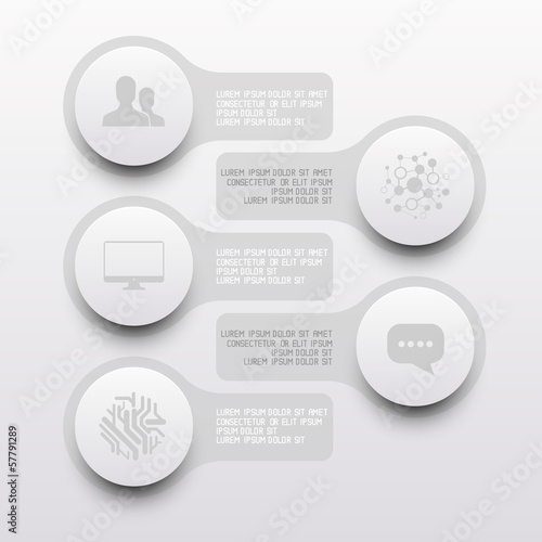 Clean Circle Label Elements