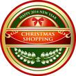 Christmas Shopping Vintage Label