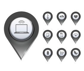 Set of icons for website
