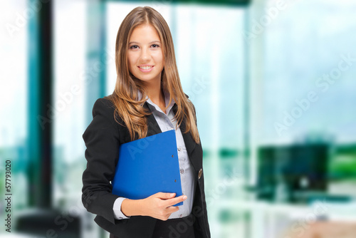 Smilling businesswoman in the office