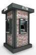 street totem  with automated teller machine