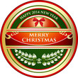 Merry Christmas Vintage Label