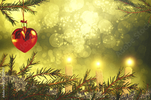 Beautiful christmas background with decorations