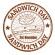 Sandwich Day stamp