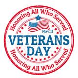 Fototapety Veterans Day stamp