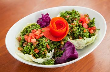 Fresh tabbouleh salad.