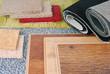 Leinwandbild Motiv carpet and laminate choice for interior