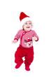 Kleiner Junge im Weihnachtskostüm
