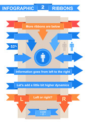 Nice ribbon set for infographic title
