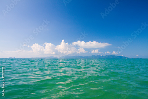 Beautiful sea and cloudy sky
