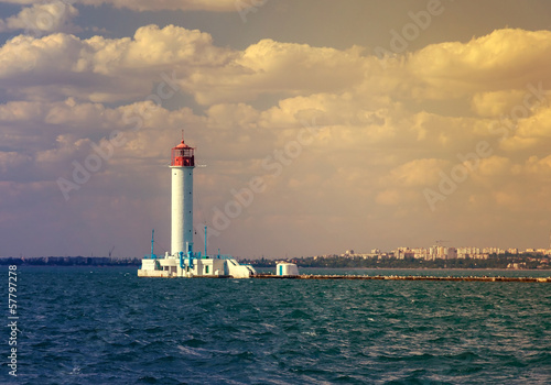 Vorontsov lighthouse vintage background