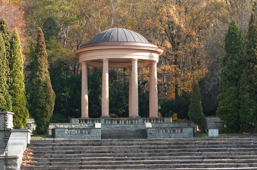 Gazebo in the park.