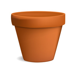 empty flowerpot vector illustration
