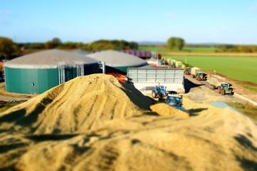 Biogasanlage, Maissilage, Miniatur