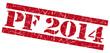 PF 2014 grunge red striped stamp