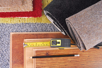 carpet and laminate