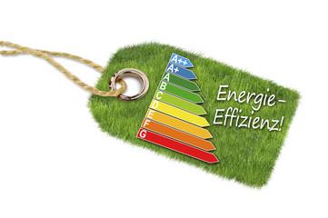 Anhänger mit Wiese und Energieeffizienzklassen
