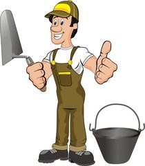 illustration of a mason