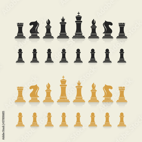 vector chess icons collection
