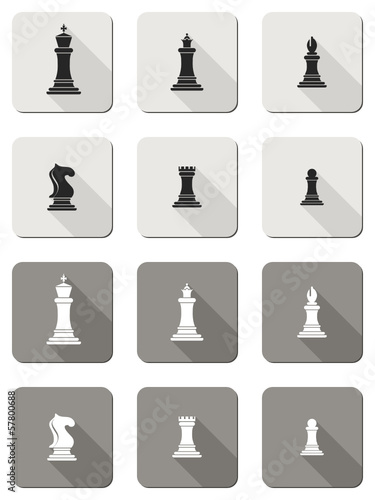 vector flat chess icons