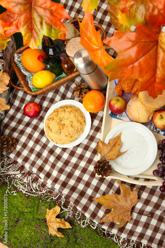 Outdoors picnic close up