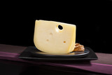 Luxurious emmentaler cheese.