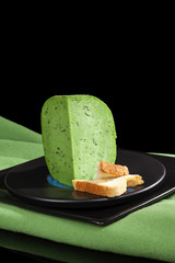 Culinary green gouda cheese.