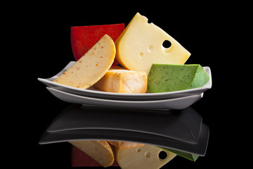 Colorful cheese variaton.
