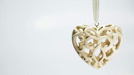 Ceramic heart for christmas tree