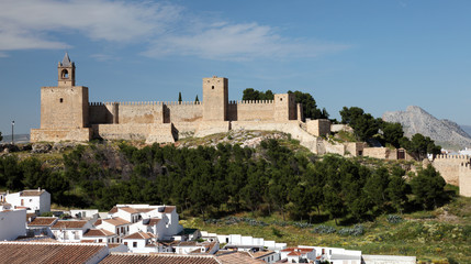 Moorish castle Alcazaba in Andalusian town Antequera, Spain
