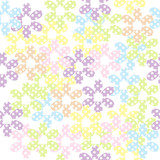 Seamless pattern with dotted flowers, background for kids