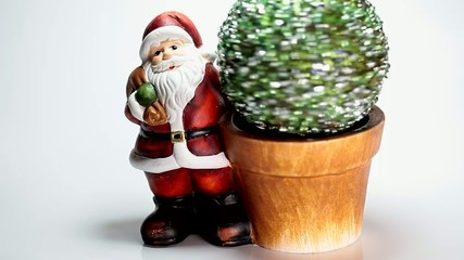 Santa claus and a rotating green ball