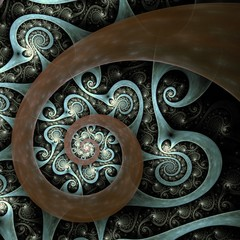 Abstract spiral art backdrop
