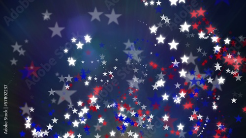 Red White and Blue Stars Background