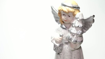 Christmas angel isolated on white background